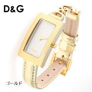 D&G(ディー&ジー) MILANO レザーウォッチ DW0265/ゴールド