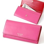 kate spade 長財布 652 HOT PINK/RED