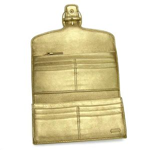 COACH(コーチ) 人気ラインが2型も☆長財布 ブリーカー Gold