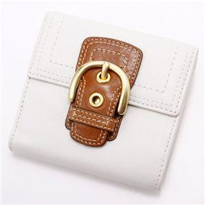 COACH(コーチ) ダブルホック財布 41262・小レザー White