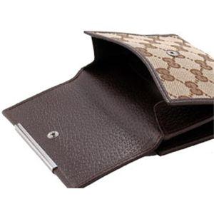 GUCCI(グッチ) 折り財布 112664 ベージュ×ダークブラウン