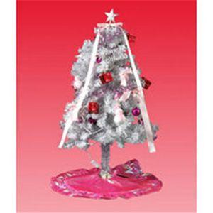 ホワイトツリー ピンク オーナメント 120cm 50レッドLED