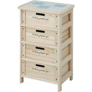 木製4段ボックス HF05-003(N) ナチュラル