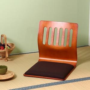 座椅子/和座いすクッション付き 木製 PY-307BS BR ブラウン