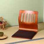 座椅子/和座いすクッション付き 木製 PY-307BS BR ブラウン 【2個セット】