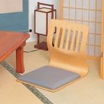 座椅子/和座いすクッション付き 木製 PY-307BS NA ナチュラル 【2個セット】