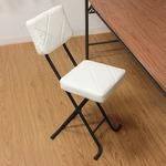 折りたたみ椅子/フォールディングチェアー 【キルト】 WH KIRTO WH ホワイト(白) (N) 【4個セット】