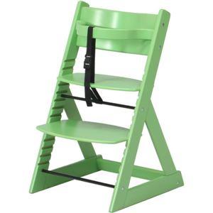 ベビーチェア/キッズチェア(グローアップチェアー) 高さ調整可 グリーン(緑)【組立品】