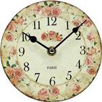 置時計/アンティーク調スタンドクロック 【ローズ】 PI ピンク (インテリア雑貨)
