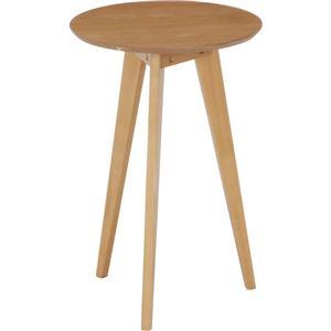 アンティーク調 コーヒーテーブル/ローテーブル 【中 ナチュラル】 幅40cm 木製 〔リビング ダイニング 寝室〕