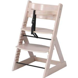 北欧調 グローアップチェア/ベビーチェア 【ホワイト】 幅45cm 股ベルト付き 〔ベビー用品 子供用家具〕