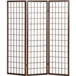 3折障子スクリーン(パーテーション/衝立) 3連 【ブラウン】 高さ150cm