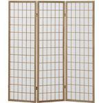 3折障子スクリーン(パーテーション/衝立) 3連 【ナチュラル】 高さ150cm