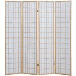 4折障子スクリーン(パーテーション/衝立) 4連 【NA ナチュラル】 高さ180cm