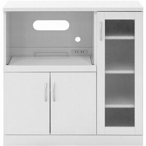 鏡面キッチンカウンター MF-9039KC ホワイト