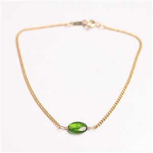 宝石質クロム・ダイオプサイド オーバルカット ブレスレット 15cm