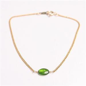 宝石質クロム・ダイオプサイド オーバルカット ブレスレット 14cm