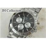 JH Collection 自動巻マルチ腕時計 黒 メンズ JH7110BK
