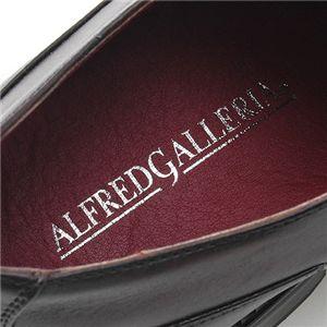 ALFRED GALLERIA ロングノーススクエアトゥドレスシューズ AG1048 (ダブルモンクストラップ)ダークブラウン 43 (26.5cm)