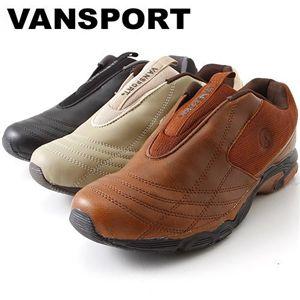 VANSPORT(ヴァンスポーツ) プレーンスニーカー VA 9305 ブラウン LL(27.0-27.5cm)