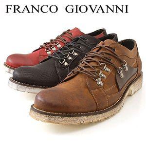 FRANCO GIOVANNI(フランコジョバンニ) ホワイトソールラウンドトゥカジュアル ライトブラウン44