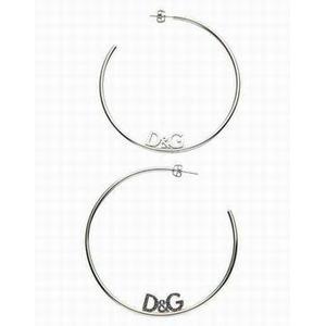 D&G(ディーアンドジー) ラウンドロゴピアス(シルバー) DJ0955