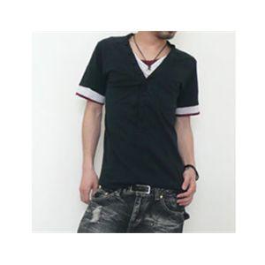 ディーライト フェイクシャツ8149/ブラック L
