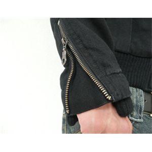 ストーンウォッシュフェイクレイヤードジャケット ブラック L