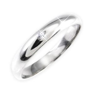 【訳あり・在庫処分】ダイヤリング 指輪 甲丸リング 11号