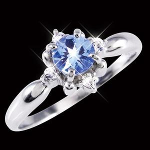 プラチナ100 タンザナイト&ダイヤモンドリング 9号