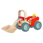 ★PLAN TOYSの木製玩具(木のおもちゃ)★6307★ ブルドーザー