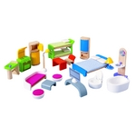 ★PLAN TOYSの木製玩具(木のおもちゃ)★7140★ モダン家具セット