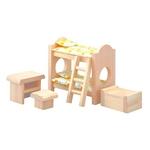 ★PLAN TOYSの木製玩具(木のおもちゃ)★9502★ クラシック子ども用ベッド
