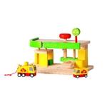★PLAN TOYSの木製玩具(木のおもちゃ)★6009★ 自動車修理サービス