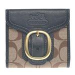 COACH(コーチ) ブリーカーシグネチャーフレンチ財布 ブラック 41534