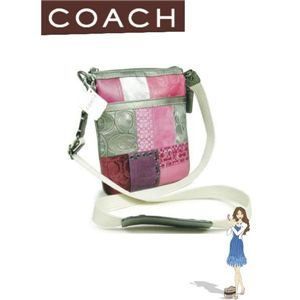 COACH(コーチ)ギャラリー パッチワーク スウィングパック マルチカラー ピンク