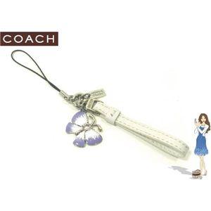 COACH(コーチ) ストラップ レザーループ ウィズ バタフライチャーム 92297