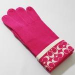 COACH(コーチ)の手袋 ニット手袋 ピンク 80462