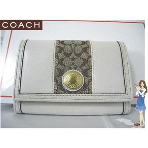 コーチ・エルゴ レザー コンパクト クラッチ財布 41479 ホワイト