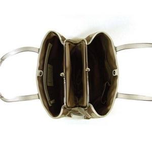 コーチバッグ COACH コーチ シグネチャー ストライプ フレームド キャリーオール トートバッグ カーキ/ホワイト 13533