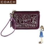 COACH(コーチ) バッグ ポピー パテント リストレット パープル 42868