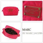 【NEW】MARCBY MARCJACOBS(マークバイマークジェイコブス) ナイロン スモール コスメティック ポーチ ピンク