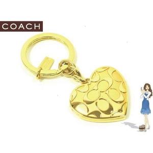 Coach(コーチ) キーホルダー シグネチャー ハート ロケット ゴールド キーフォブ 92304