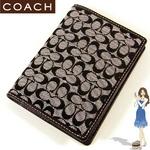 Coach(コーチ) パスポートケース シグネチャー ブラック 60354
