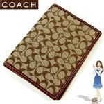 Coach(コーチ) パスポートケース シグネチャー ブラウン 60354
