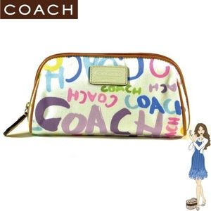 Coach(コーチ) コスメティック ポーチ ビーチ マルチグラフィティ 42623