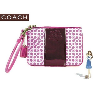 Coach(コーチ) バッグ ペネロピ オプ アート リストレット パープル 42199