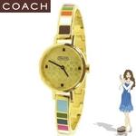 Coach(コーチ) 腕時計 ミランダ ゴールド プレイテッド バングル ウォッチ 14500975