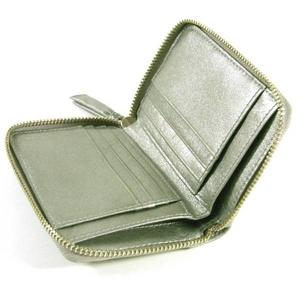 【訳あり】Coach(コーチ) ジップ アラウンド 2つ折り財布 パーカー パーフォレーテッド ミディアム グレー 42696