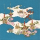 【箱入り】■日本製高級風呂敷■丹後ちりめん浮世絵風呂敷[二巾]■祇園祭■